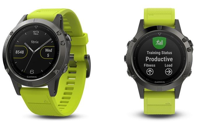 Garmin Fenix 5 Smartwatch Series 47mm in yellow