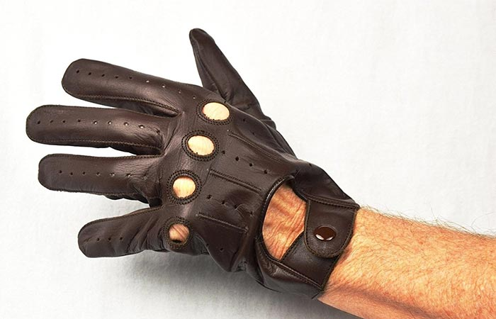 Genuine Leather Driving Gloves by RealRider