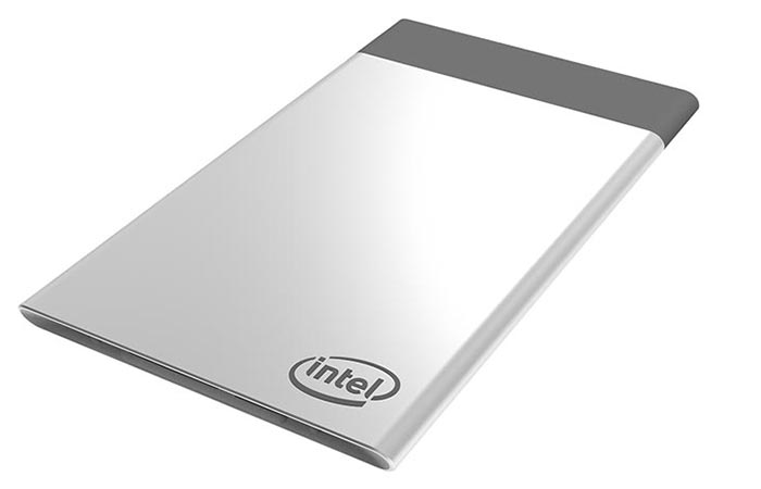 Intel Compute Card with white background