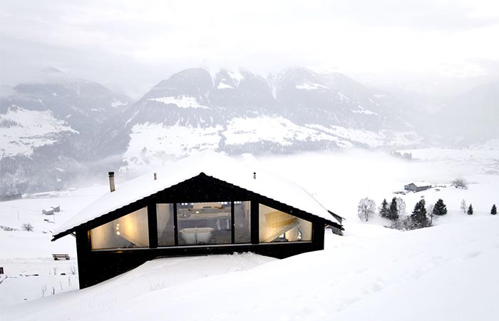 house in the Swiss Alps
