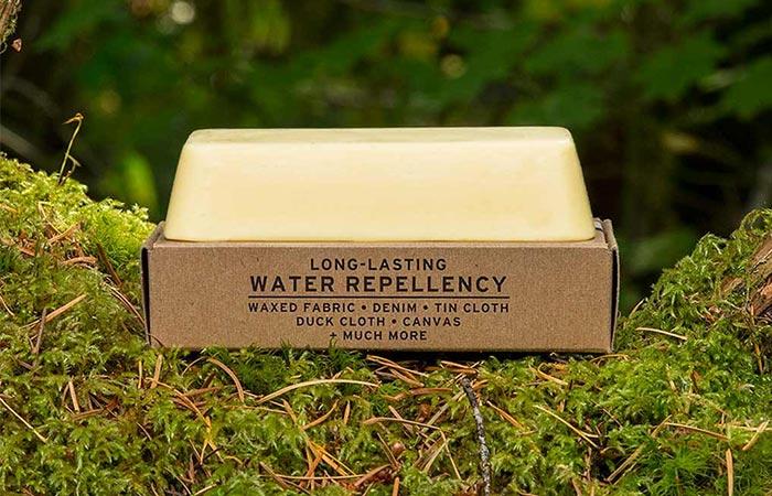 a wax bar in a cardboard box