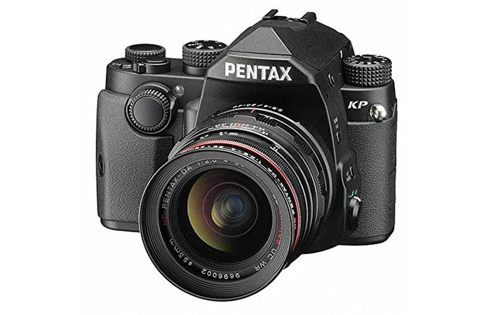 Front view of the Pentax KP