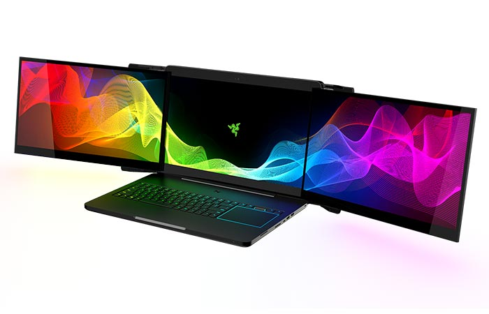 Razer Project Valerie with screens extended