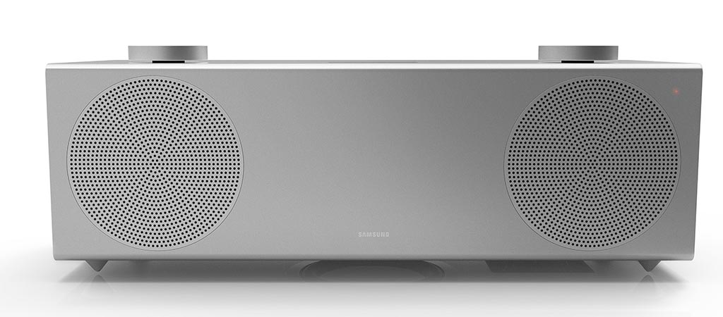 Front view of the Samsung H7 Wireless Speaker