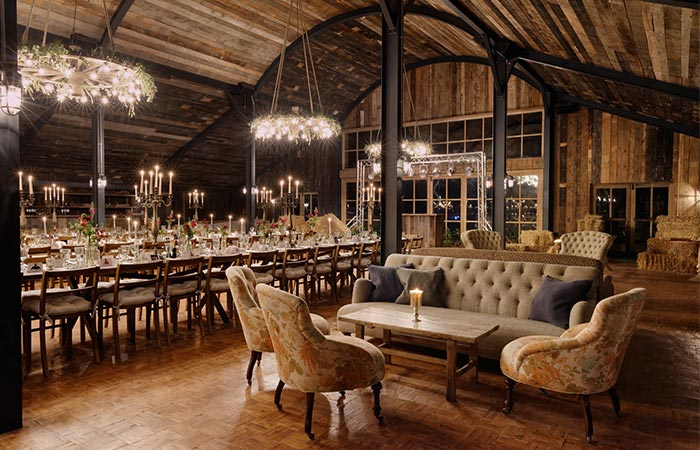 hay barn in Soho Farmhouse