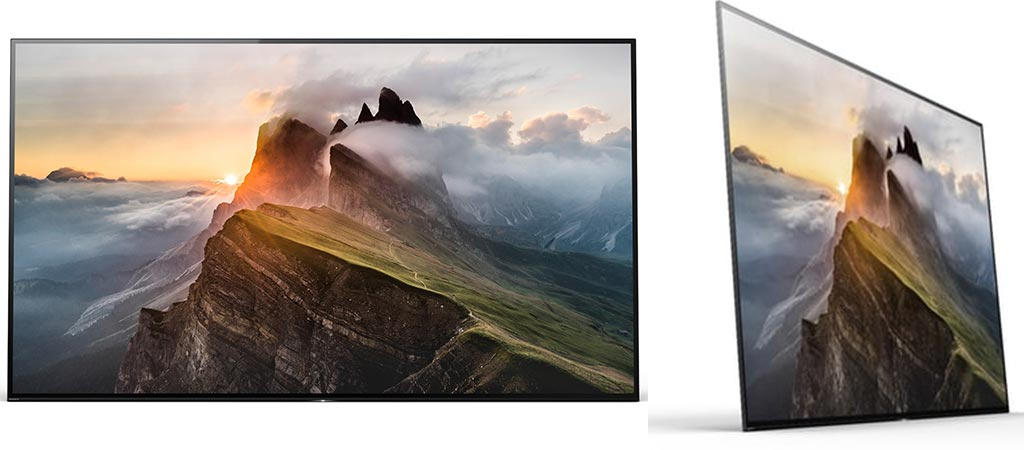 Two different views of the Sony Bravia A1E OLED