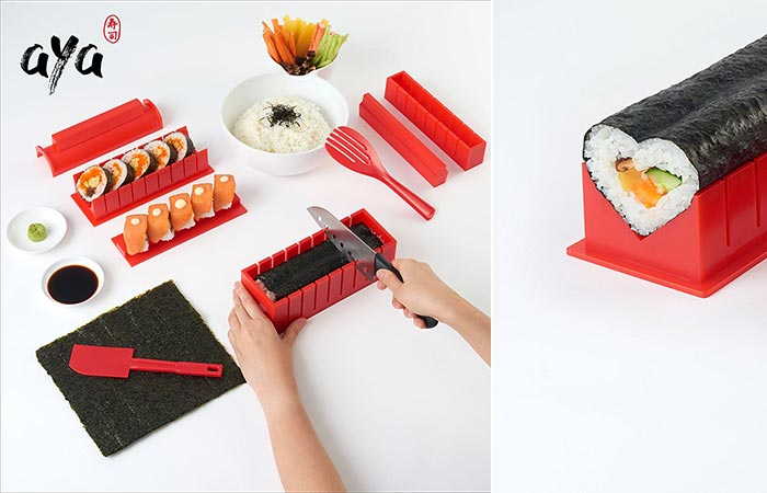 two images of Aya shushi kit