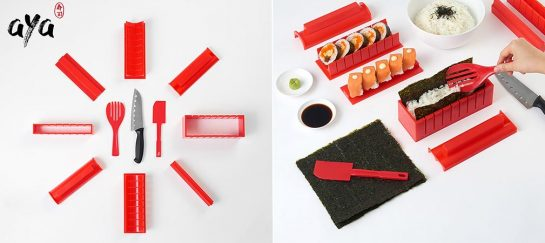 SushiAya 11-Piece DIY Sushi Maker Kit