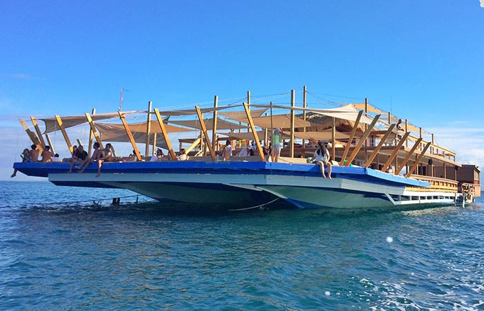 TawHai Floating Bar out in the ocean