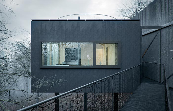black cladding of The Mask House By WOJR