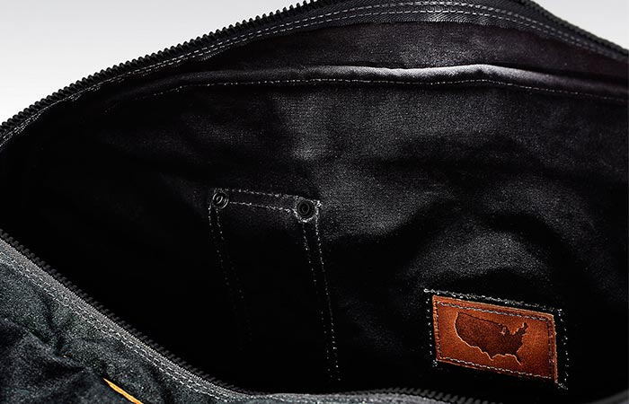 inside the black duffel bag