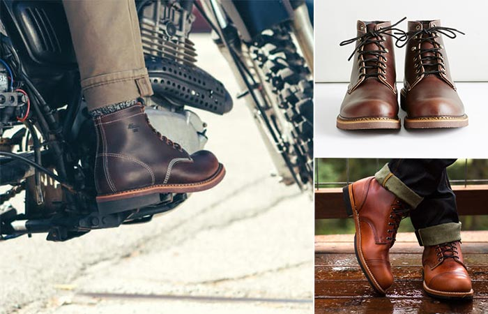 three images of Thorogood Beloit Boot
