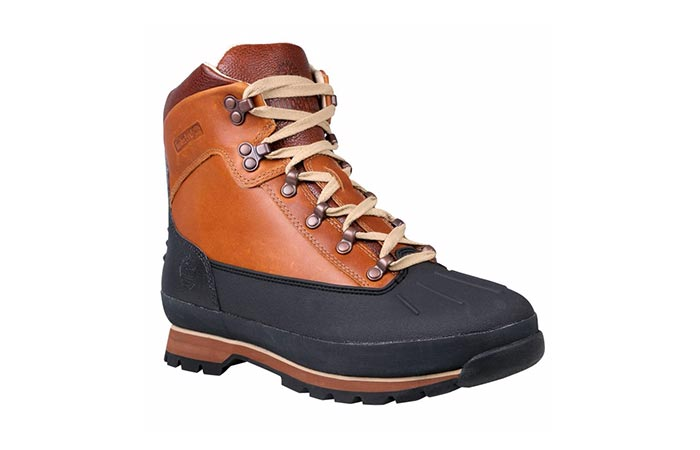 brown Timberland hiking boot