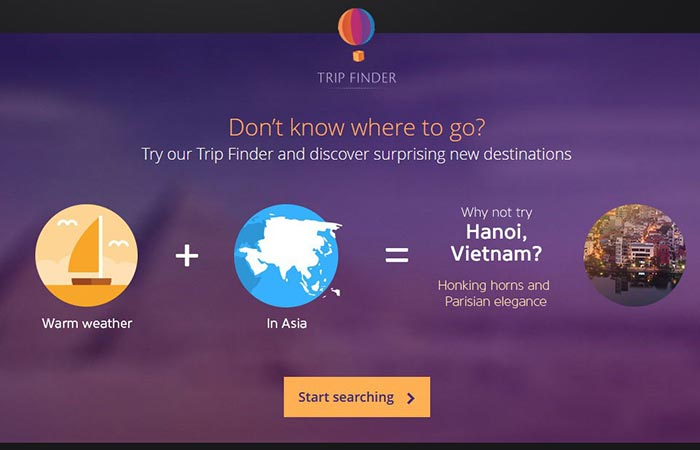 Momondo's Trip Finder