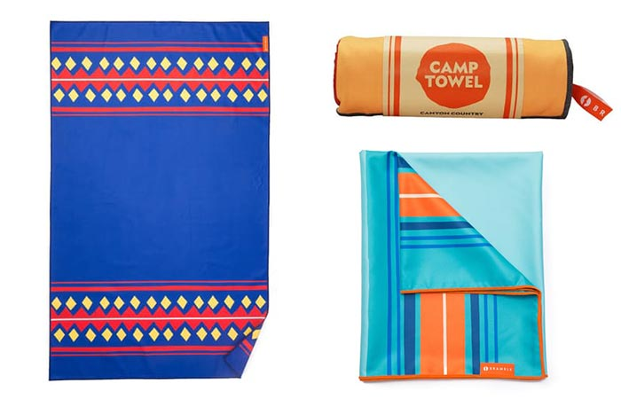 three images of Bramble Outdoor Camp Towels