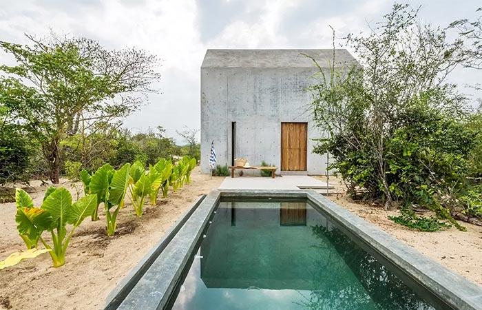 pool behind Casa Tiny