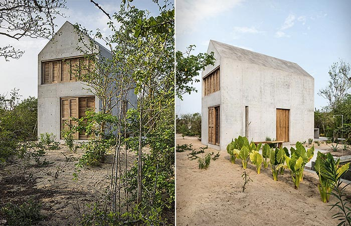two images of Casa Tiny exterior