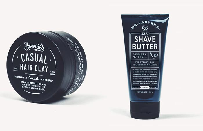Dollar Shave Club hair clay and shave butter