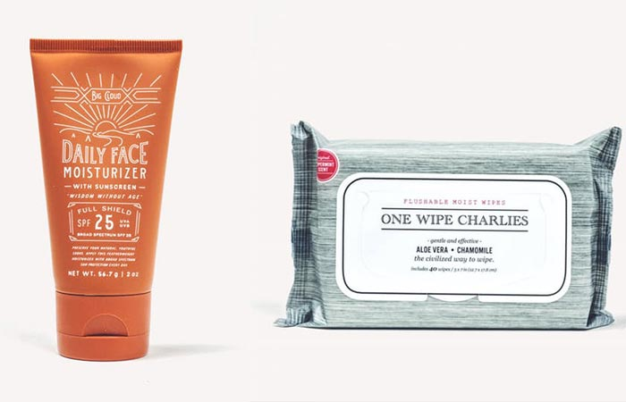 Dollar Shave Club face moisturizes and wipe