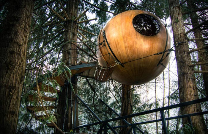 exterior of one of Free Spirit Spheres