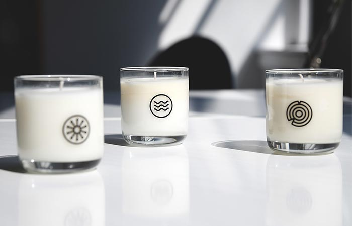 three Keap candles