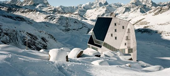 Monte Rosa Hut In Switzerland