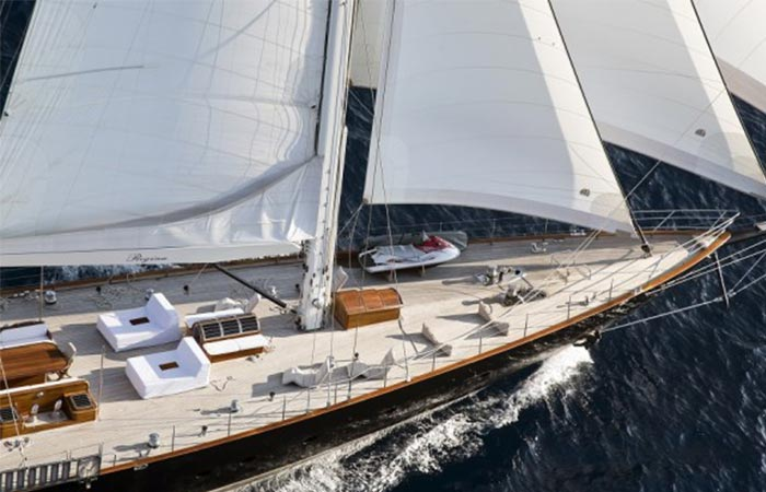 Top view of the Regina Sailing Yacht
