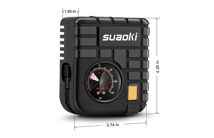 Dimensions of the Suaoki 12V Portable Mini Air Compressor