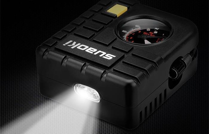 Suaoki 12V Portable Mini Air Compressor LED Flashlight
