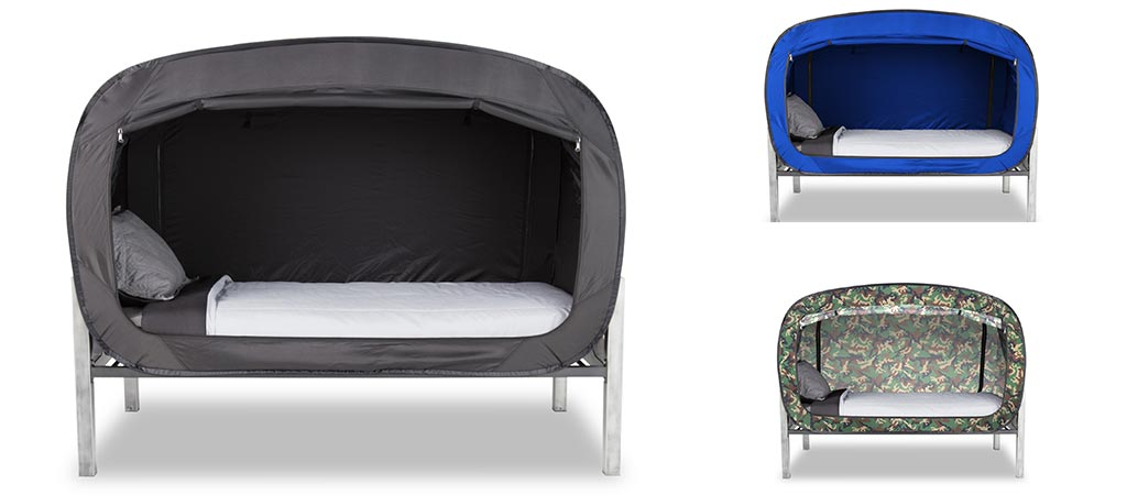 Three different versions of The Bed Tent
