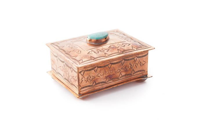 Copper Turquoise Jewelry Box