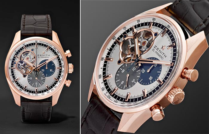 Two different views of the Zenith El Primero Chronograph