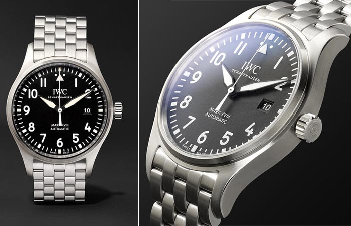 Two different views of the IWC Schaffhausen Mark XVIII