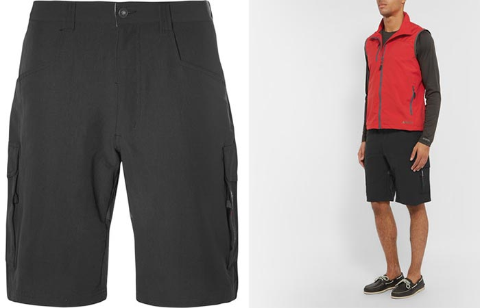 Two different views of the Musto Sailing Waterproof Shorts