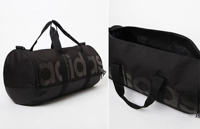 Open and closed view of the Adidas Santiago Roll Duffel Bag