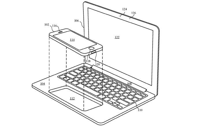 How the iPhone docks into the Laptop