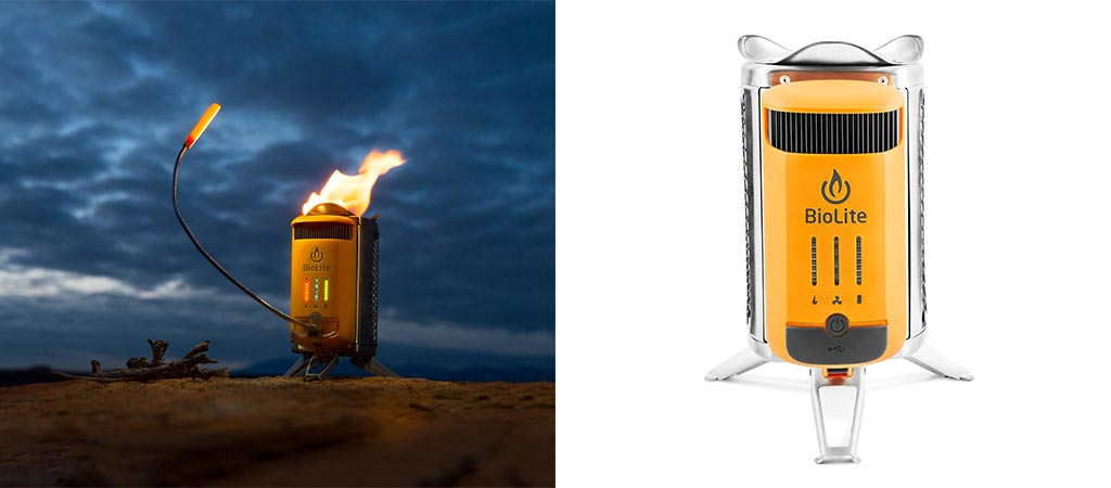 Two different views of the Biolite CampStove 2