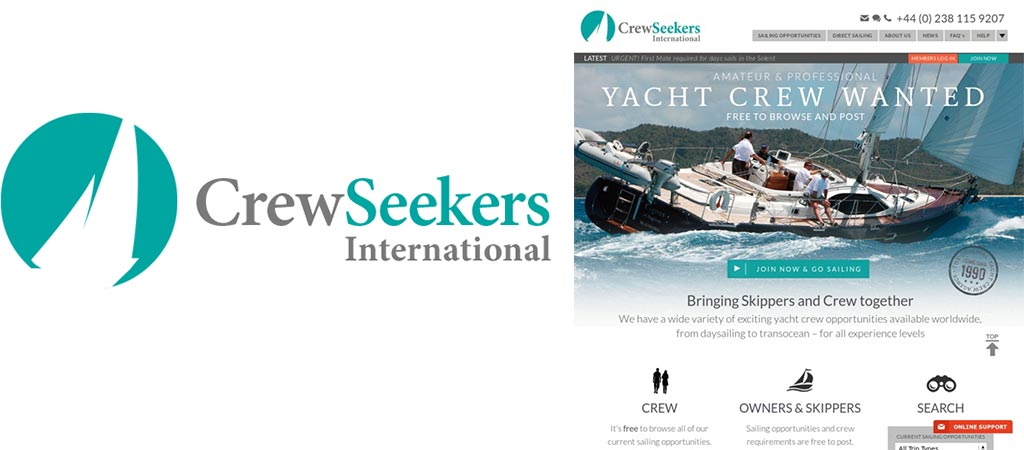 CrewSeekers logo and first page