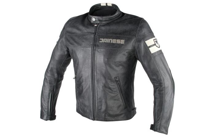 Front view of the Dainese HF D1 Leather Jacket