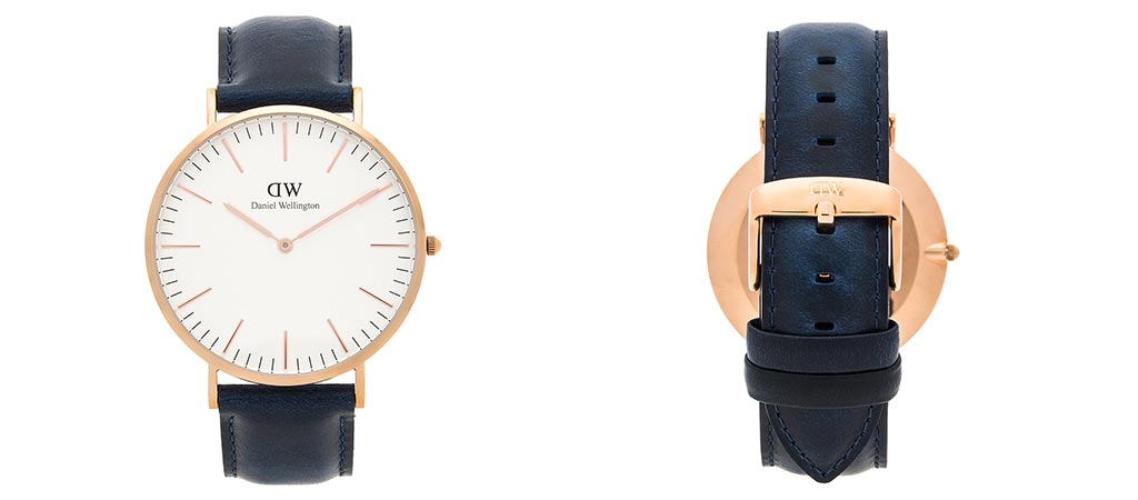Front and rear view of the Daniel Wellington Classic Somerset Watch