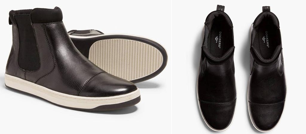 Two different views of the EFM X Dockers Chelsea Boot