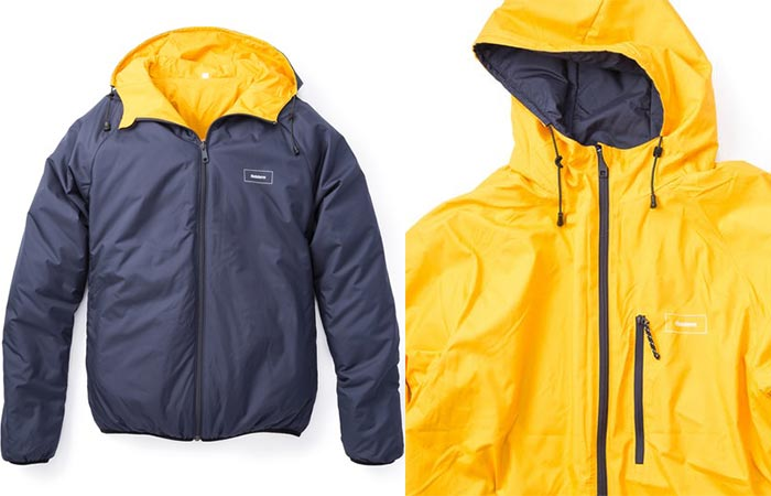 Unreversed, and reversed, modes of the Finisterre Aeris Reversable Jacket