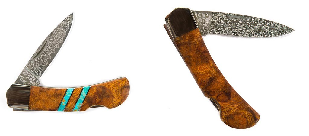 Two different views of the Ironwood Knife by Santa Fe