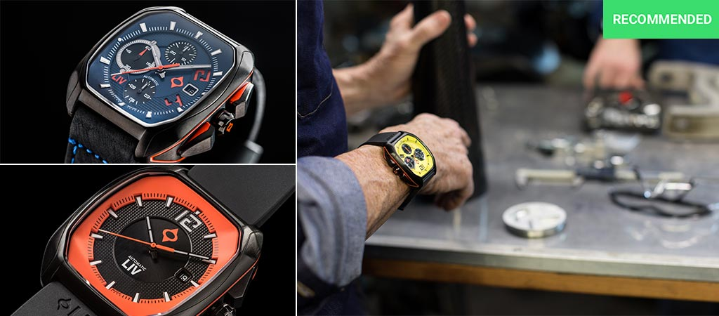Three different models, and views of the LIV Rebel Watches