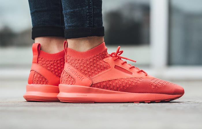 wearing Reebok Zoku Runner Ultraknit shoes