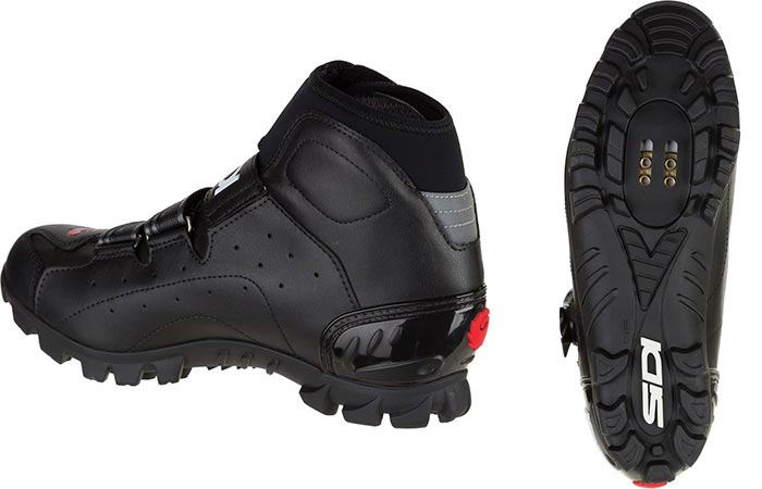 Back and bottom view of the Sidi Ghibli Cycling Shoe
