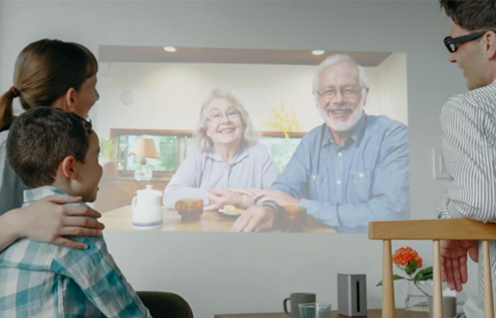 Video call being made on the Xperia Touch