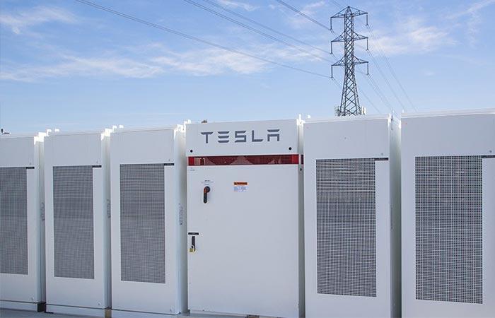 Close up view of Tesla's PowerPacks
