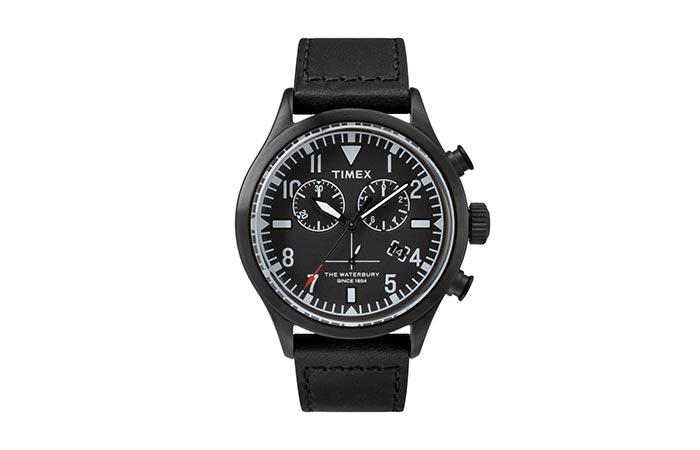 black timex watch