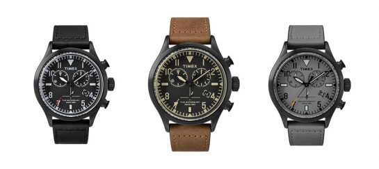 Timex + Red Wing Shoe Leather Chronograph Watch